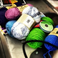 Restocking for the 12for2012 Yarn Bomb