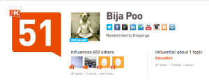 BijaPoo on Klout