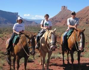 Riding along Professor Creek (Moab, UT)
